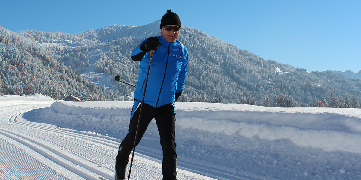 Cross-country skiing in Balderschwang